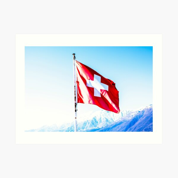 Swiss Flag Art Print