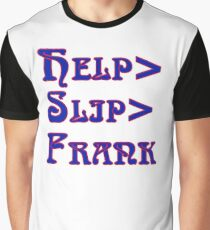 Deadheads Concert Tour Lot Help>Slip>Frank  Graphic T-Shirt