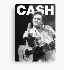 Johnny Cash mit Logo Metallbild
