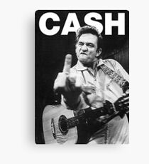 Lienzo Johnny Cash con Logo