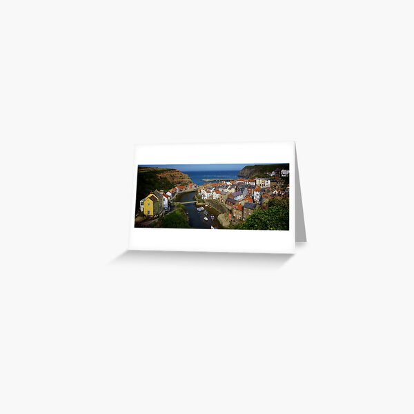 The Village of Staithes  Greeting Card