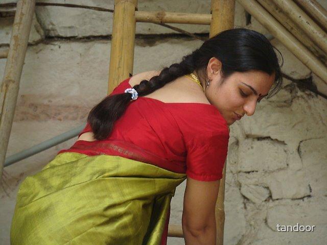 Playful in a Saari by tandoor