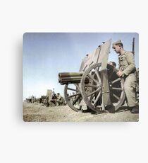 Francoist artillery positions, Madrid, 1936.  Metal Print