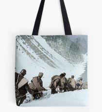 Republican soldiers crossing the border in the Pyrenees, 1938.  Tote Bag