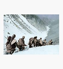 Republican soldiers crossing the border in the Pyrenees, 1938.  Photographic Print