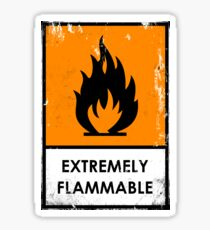 Punk. Chemical Hazard Warning Sign, Flammable Sticker
