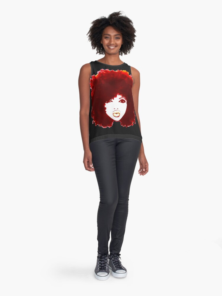 Alternate view of Natural Hair Curly Hair Autumn Afro Tshirt/Tees T-Shirt Sleeveless Top