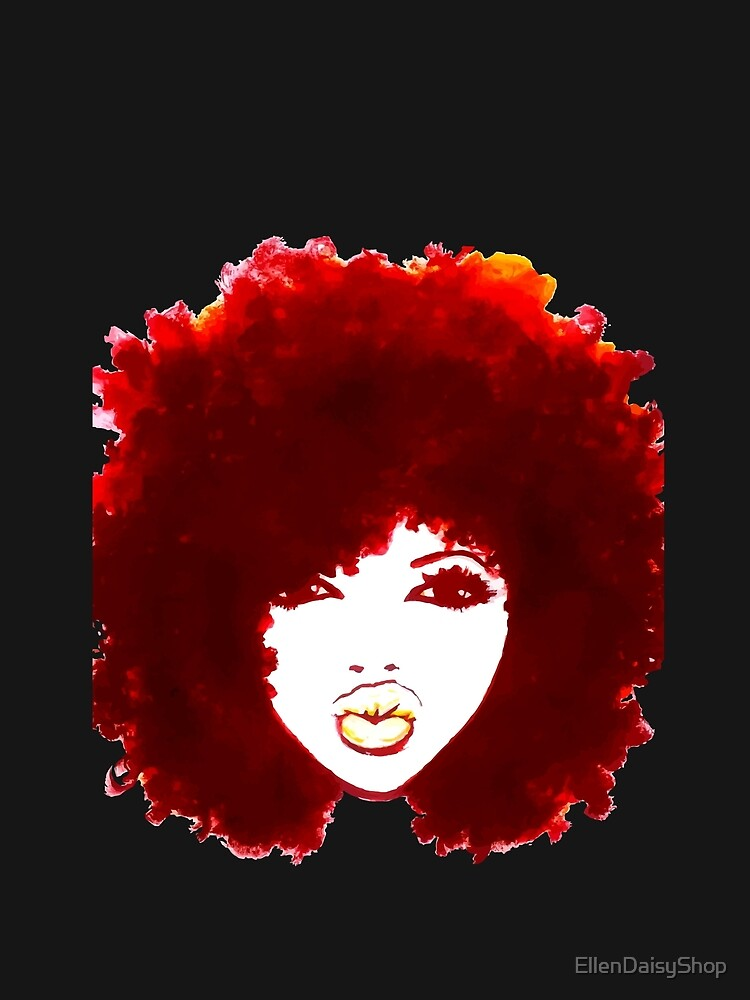Natural Hair Curly Hair Autumn Afro Tshirt/Tees T-Shirt by EllenDaisyShop