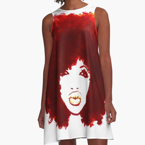 Natural Hair Curly Hair Autumn Afro Tshirt/Tees T-Shirt A-Line Dress