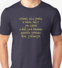 If You See Something, Say Something (handwriting, yellow text) Unisex T-Shirt