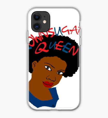 BrownSugar Queen Natural Hair AfroTshirt iPhone Case