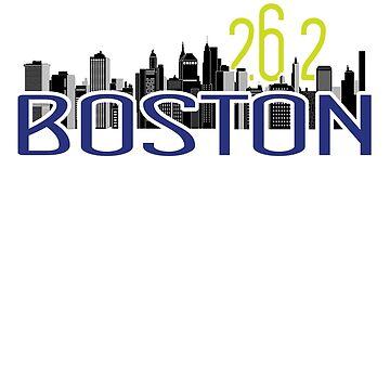 Boston Marathon 2019 Runners Shirt 26.1 Miles by LuckyU-Design