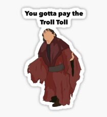 Troll Toll Design  Sticker
