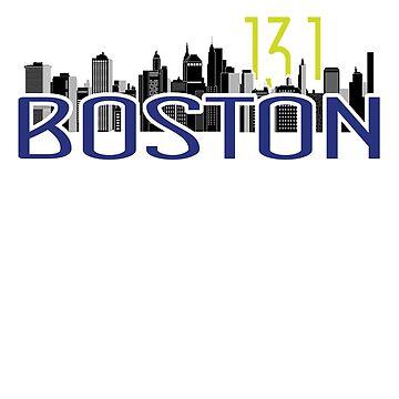 Boston Marathon 2019 Runners Shirt 13.1 Miles by LuckyU-Design