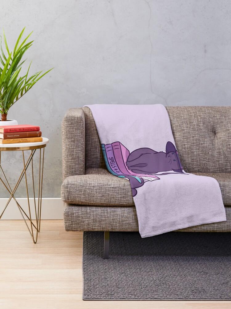 Alternate view of Feline Familiar Throw Blanket