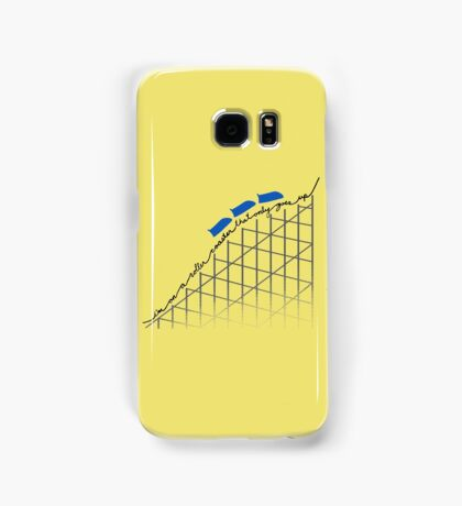 I'm On a Roller Coaster That Only Goes Up (Blue Cars) Samsung Galaxy Case/Skin