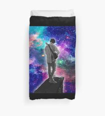 Mark Playing the Guitar in Space Duvet Cover