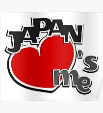 Japan loves me / Fun I love Japan Design Poster