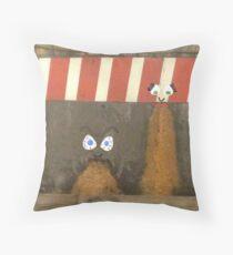 subway barf Throw Pillow