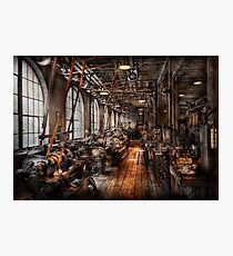 Machinist - A fully functioning machine shop  Photographic Print