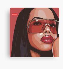 Aaliyah Artwork Canvas Print