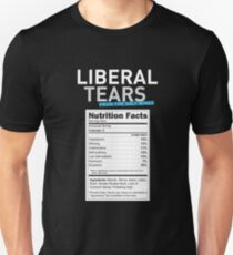 SPECIAL Liberal/Democrat Tears From the Salt Mines Logo with salty tears supplement facts - Online Store Unisex T-Shirt