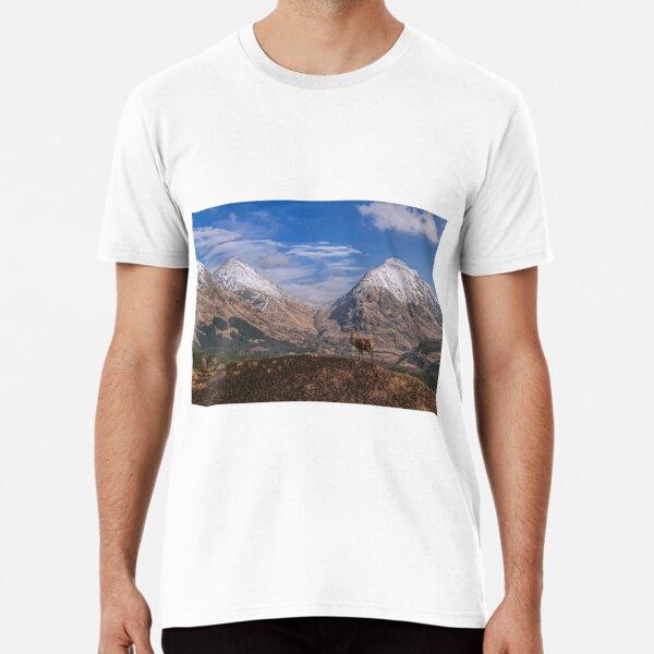 Red Deer Stag Glen Etive, Scottish Highlands. Premium T-Shirt