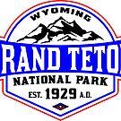 GRAND TETON NATIONAL PARK WYOMING MOUNTAINS 2 by MyHandmadeSigns