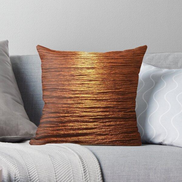 copper sea Throw Pillow