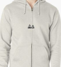 Kendall and Kylie Coffee cups Zipped Hoodie