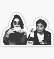 Kendall and Kylie Coffee cups Sticker