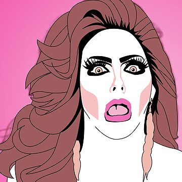 Alyssa Edwards Tongue Pop Art Illustration by wretchedginger