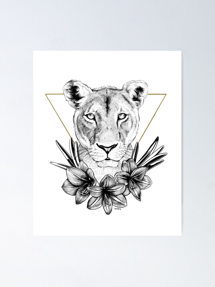 Alternate view of Lioness of Pride Poster