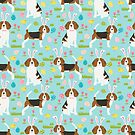 Beagle easter spring bunny eggs dog breed gifts for pure breed pet lover beagles by PetFriendly