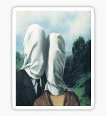 The Lovers I -Rene Magritte Sticker