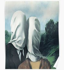 The Lovers I -Rene Magritte Poster
