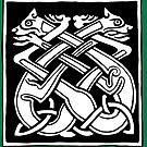 Celtic Art - Interlaced Dogs by stíobhart matulevicz