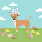 Chihuahua dog breed easter bunny costume pet portrait chihuahuas  by PetFriendly