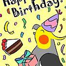 Happy Birthday Cockatiel by lifewithbirds