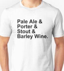 BEER -- Ales -- Pale Ale, Porter, Stout, Barley Wine Unisex T-Shirt
