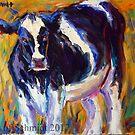 Cow in the Meadow by jsjschmidt2017
