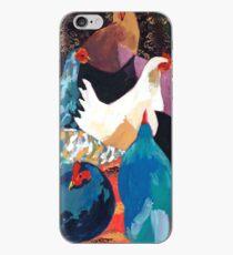 Barnyard Chickens iPhone Case