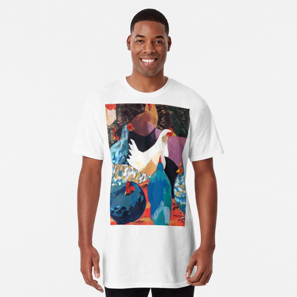 Barnyard Chickens Long T-Shirt