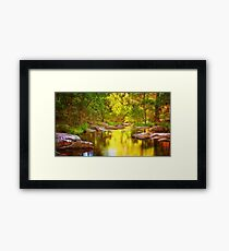 River of Gold Framed Print