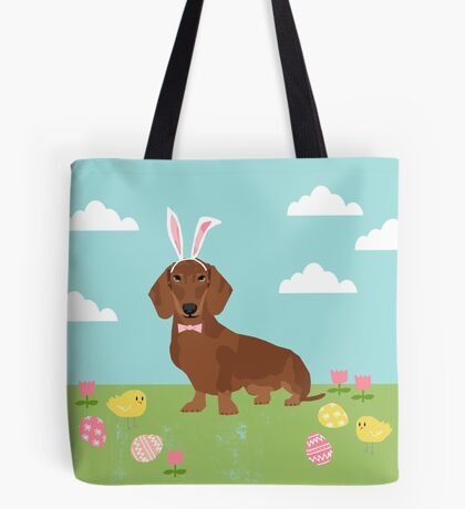 Dachshund dog breed easter pet portrait dog breed gifts pure breed dachsie doxie  Tote Bag