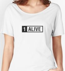 PUBG Playerunknowns Battlegrounds 1 Alive Women's Relaxed Fit T-Shirt