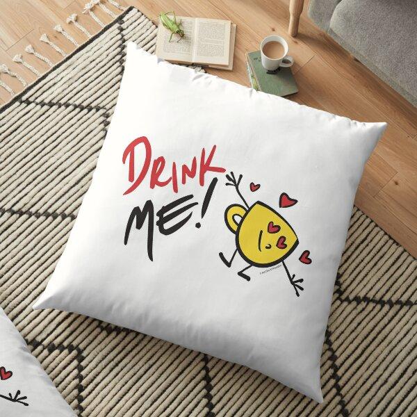 Drink Me! - by Ian David Marsden Floor Pillow