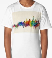 Santorini Greece Skyline Long T-Shirt