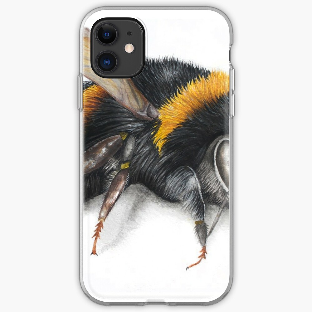 Bumble bee ink drawing iPhone Case & Cover