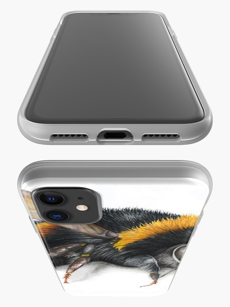 Alternate view of Bumble bee ink drawing iPhone Case & Cover